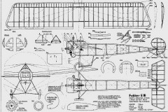 Fokker EIII Co2 model airplane plan