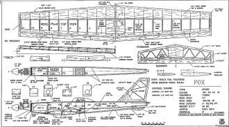 Fox RCM-1298 model airplane plan