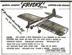 Frisky model airplane plan