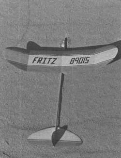 Fritz model airplane plan