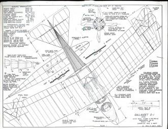 Gallaudet D-1 model airplane plan