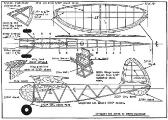 Gas Bag FM 1942 model airplane plan
