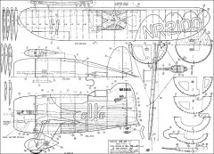Gee-Bee-R1 CL VC model airplane plan