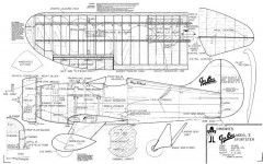 Gee-Bee E Sportster model airplane plan
