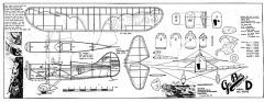 GeeBee-D model airplane plan