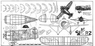 Gee Bee-R2 model airplane plan