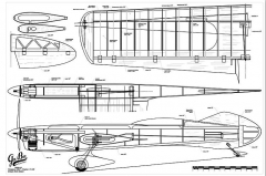 Gee Bee R-3 model airplane plan