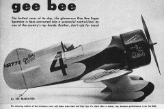 Gee Bee Super Sportster model airplane plan