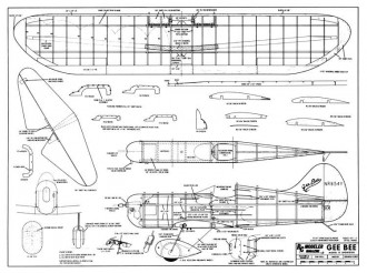 Gee Bee Model D Sportster model airplane plan