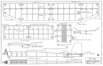 Geef 250 FF model airplane plan