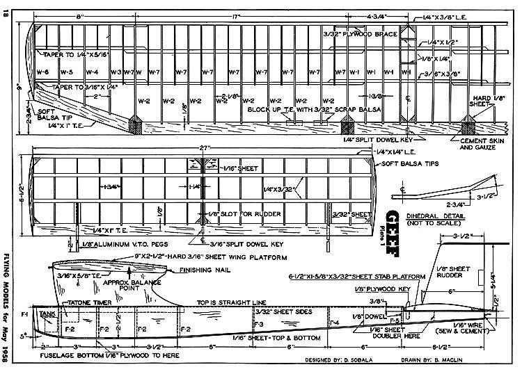 Geef FM 1958 model airplane plan