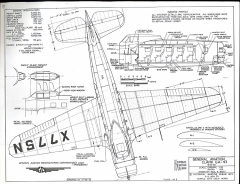General Aviation Clark GA-43 model airplane plan