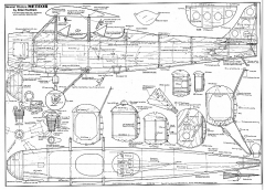 General Western Meteor model airplane plan