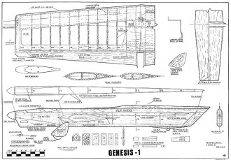 Genesis-1 model airplane plan