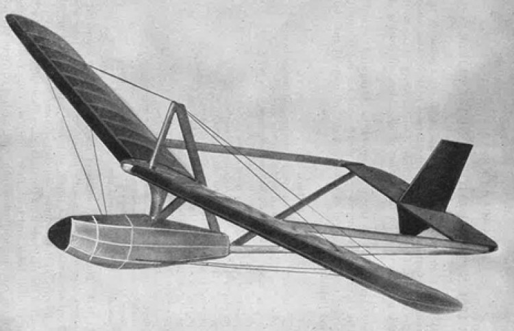 German Hangwing Glider model airplane plan