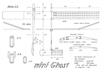 Ghost Mini model airplane plan