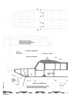 Gippsland GA-8 Airvan model airplane plan