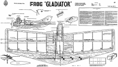 Gladiator CL Frog model airplane plan