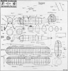 Gloster Gladiator model airplane plan
