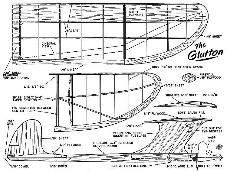 Glutton 1951 AT model airplane plan