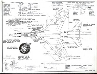 Grumman F-2F 1 model airplane plan