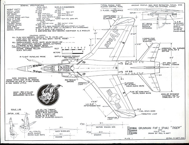 Grumman F-2F 1 model airplane plan