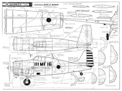 Grumman F4F-4 Wildcat model airplane plan