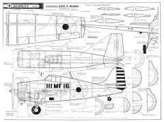 Grumman F4F-4 Wildcat model airplane plan