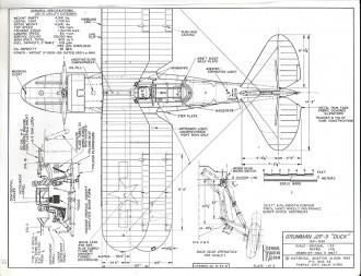 Grumman J2F-5 model airplane plan