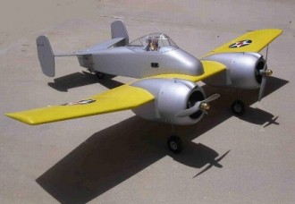 Grumman XF5F-1 Skyrocket model airplane plan
