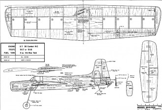 Grumman Guardian U/C model airplane plan