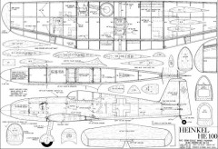 HE 100 model airplane plan