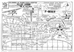 HM-8 Avionette model airplane plan