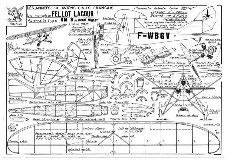 HM-8 Avionette model airplane plan