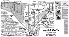 Half-A-Delta 34in model airplane plan