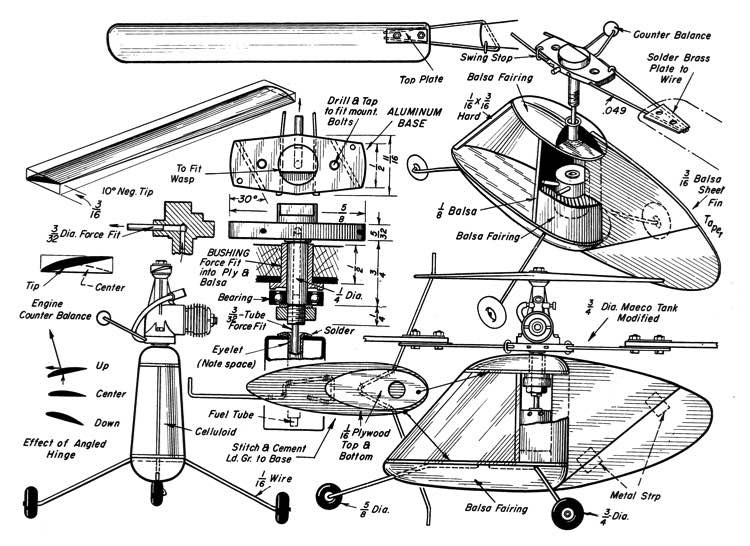 Half A Helicopter model airplane plan