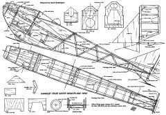 Handley Page Sayer Mono model airplane plan