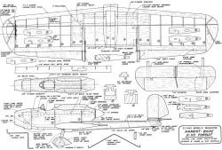 Hanriot-Biche H-110 model airplane plan