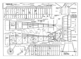 Hanriot HD-1 model airplane plan