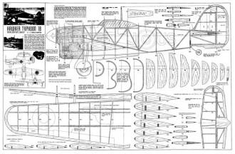 HawkerTyphoon1B model airplane plan