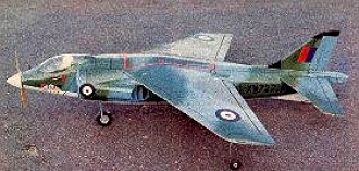 Hawker Harrier B.Ae model airplane plan