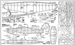 Hawker Hurricane model airplane plan