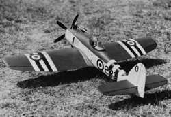 Hawker Seafury model airplane plan
