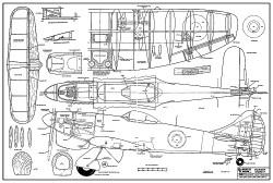 Hawker Tempest RCM351 model airplane plan