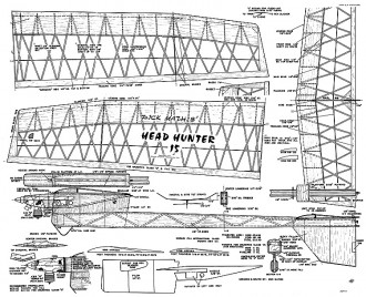 Head Hunter 15 model airplane plan