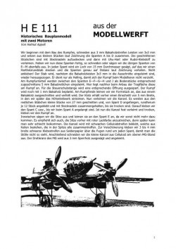 Heinkel He111 model airplane plan