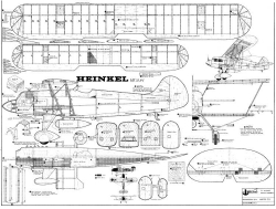 Heinkel He 51 model airplane plan