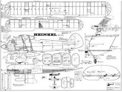 Heinkel He 51 model airplane plan