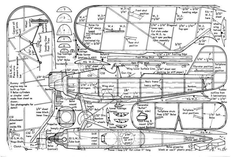Heinkel He 46 model airplane plan