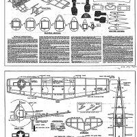 "Martin AM Mauler 30/"" Navy Carrier Model for .35 Model Airplane Plans UC"